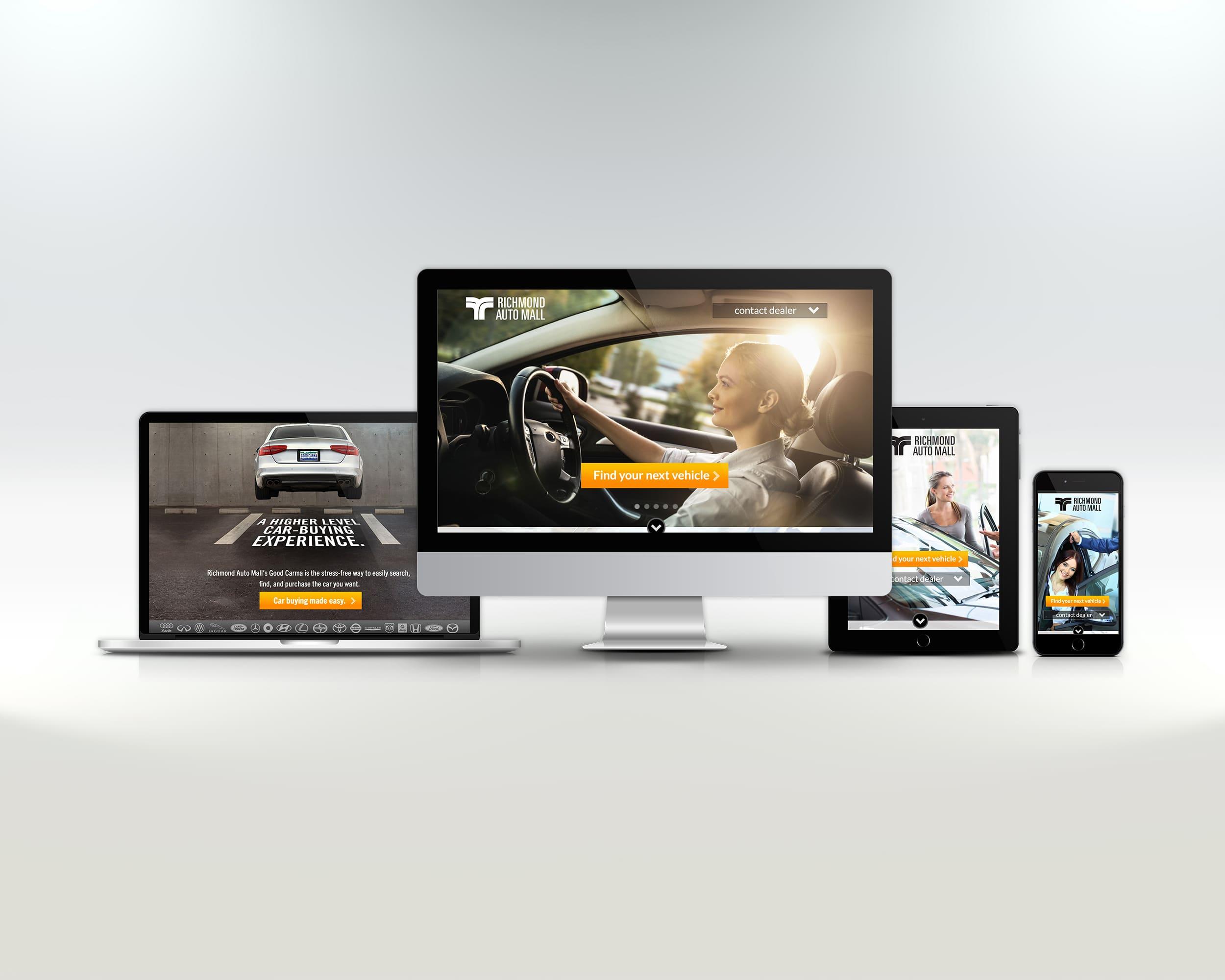 Website design for auto mall