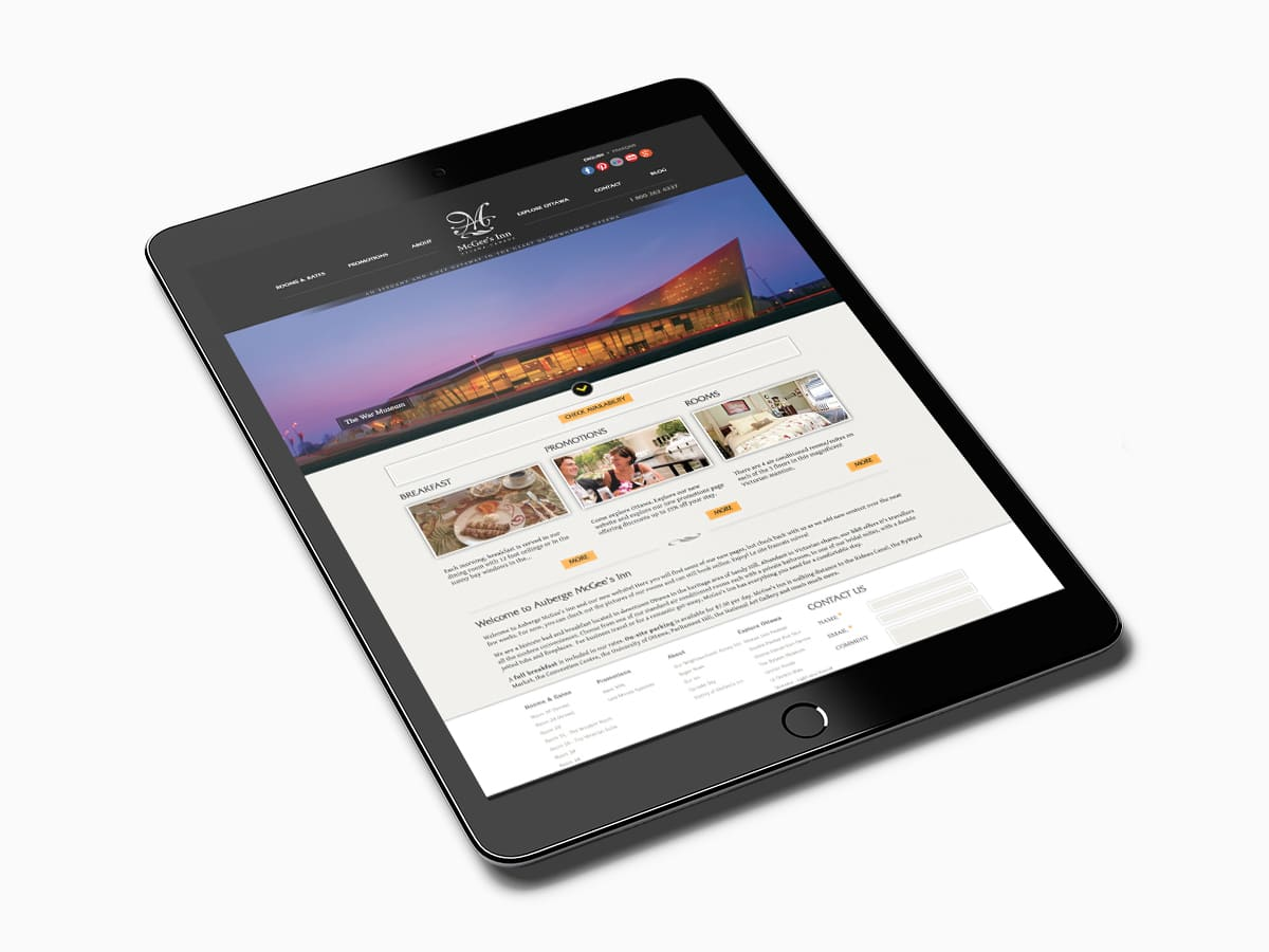 Website design Ottawa Inn