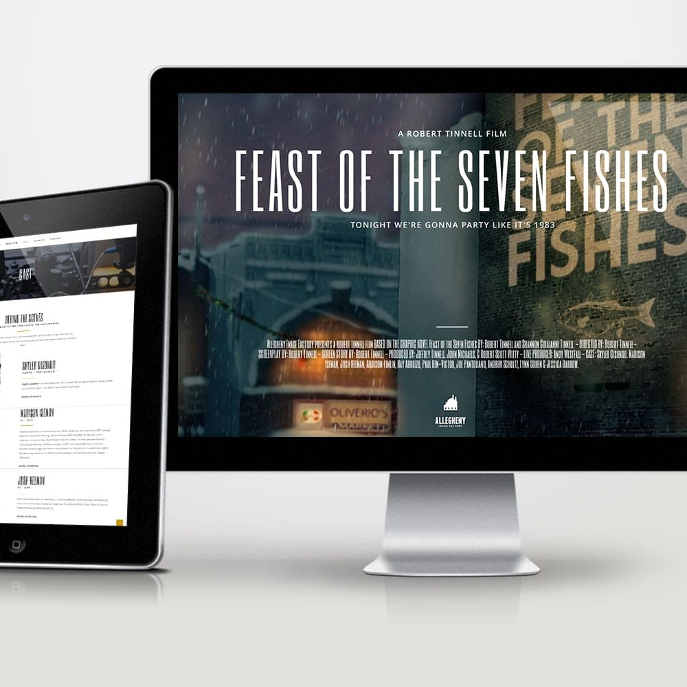 Web site design for movie company